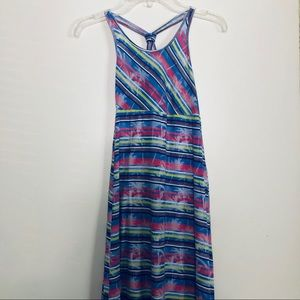 Roxy Girl Long Dress with Criss Cross Straps